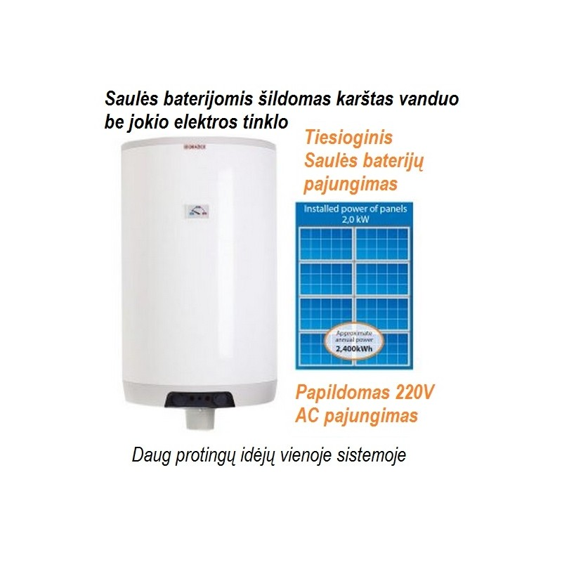 Boileris saulės baterijoms 160L