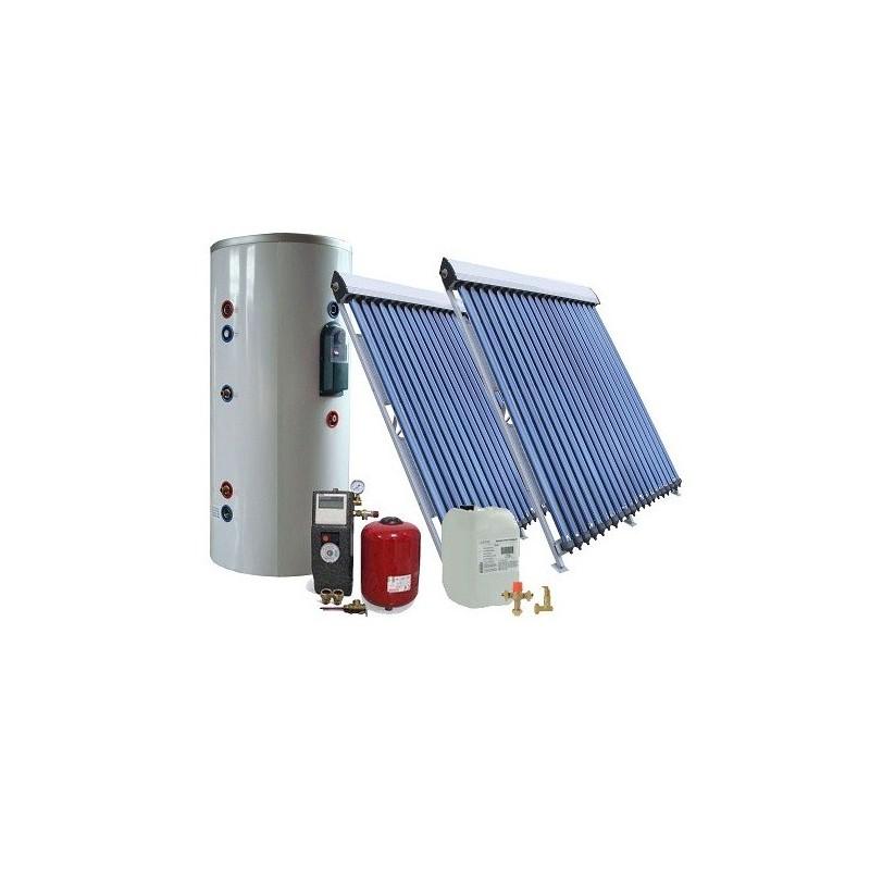 30 kolbų  ir 200Ltr. saulės kolektorių sistema