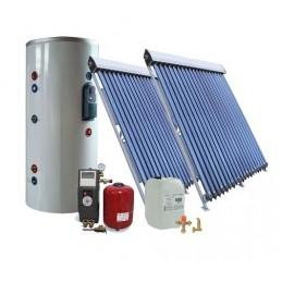 40 kolbų ir 300Ltr. saulės kolektorių sistema