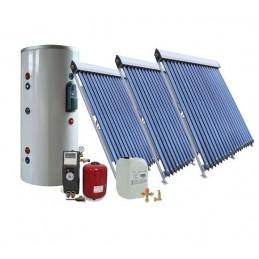 60 kolbų ir 300Ltr. saulės kolektorių sistema
