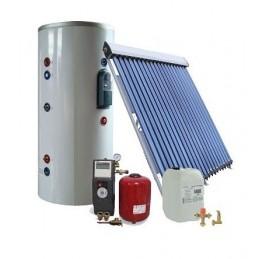 20 kolbų ir 150Ltr. saulės kolektorių sistema