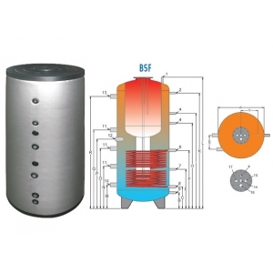 BSF 1000 akumuliacinė talpa su boileriu