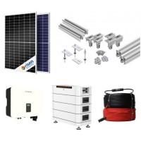 Saulės baterijos namui autonominės elektrinės su akumuliatoriumi